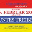 Buntes Treiben am Fastnachtssonntag: Stadtleben GmbH richtet Hotspot am Vapiano ein