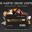 Stadtleben Card gewinnt den 100. Vorteilspartner –  und startet in Frankfurt.